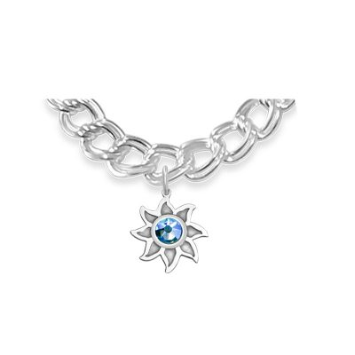 Colorado Collection Sunshine Charm with Sky Blue Swarovski Crystal