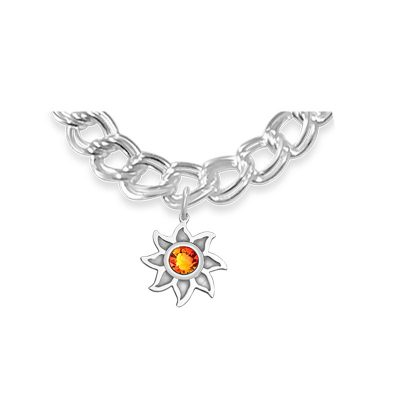 Colorado Collection Sunshine Charm with Topaz Red Swarovsk Crystal