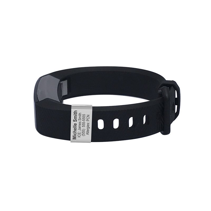 Customizable Badge for Fitbit Alta - Large Customized with ICE Information