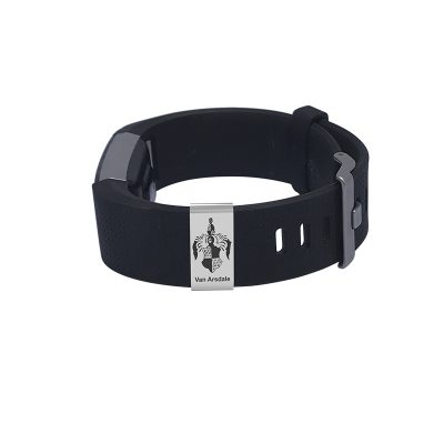Customizable Badge for Fitbit Charge - Large Customized With Family Coat of Arm