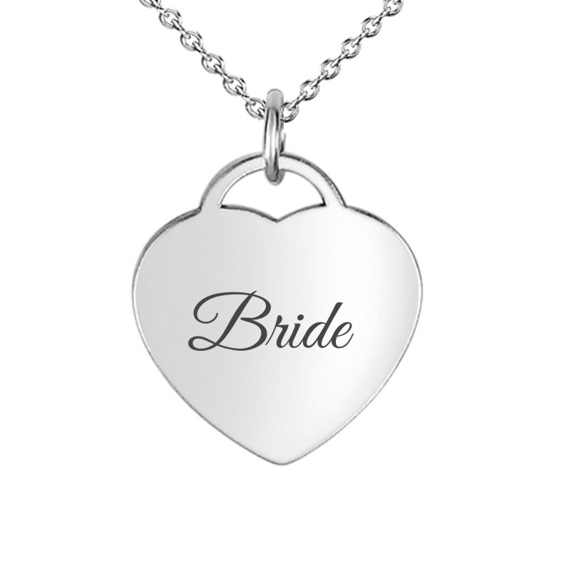 Small Hear Pendant Personalized with Bride