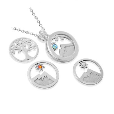 Kavalis Colorado Collection sterling silver open locket with interchangeable inserts
