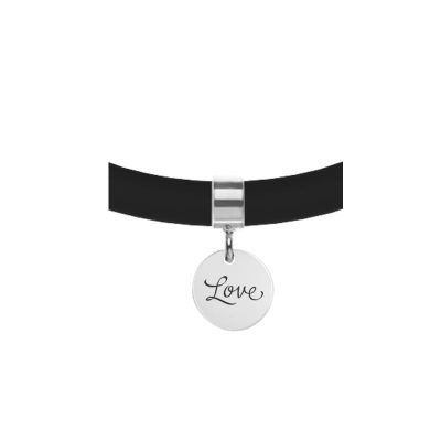 Personalized Charm for Leather Bracelet - Mantra