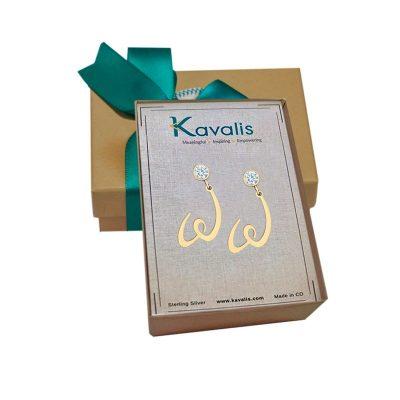 WomenGive Gold Earrings CZ