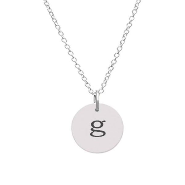 Customizable Disc Pendant - Small Customizaedwith Initial g
